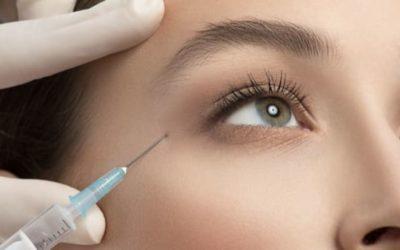 Injection botox pour traiter les rides de la patte d'oie (yeux)
